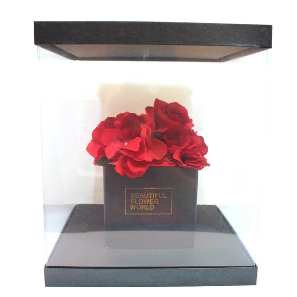 Large Black Flower Display Box
