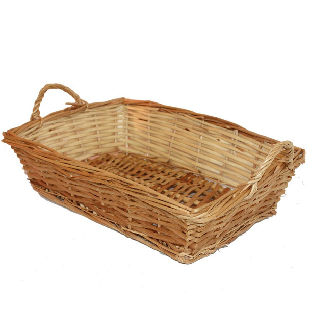 """16"""" Rectangular Willow Tray Basket with Ears"""