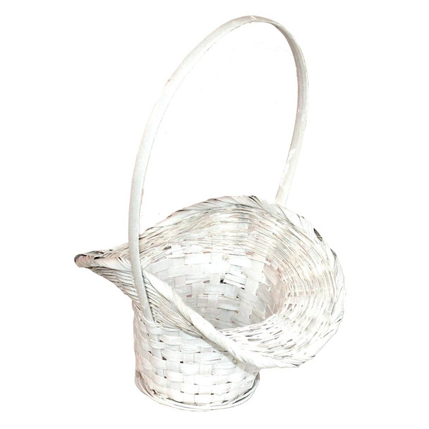 8'' White Princess Basket