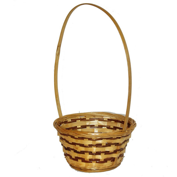 "6"" Long Handle Wicker Basket"