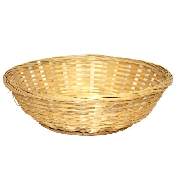 "12"" Round Bamboo Bun Basket"