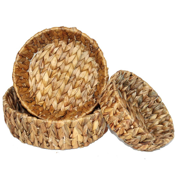Round Banana Leaf Basket Set of 3