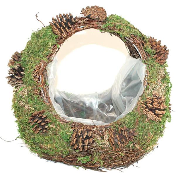 """10"""" Purse Style Moss Basket"""