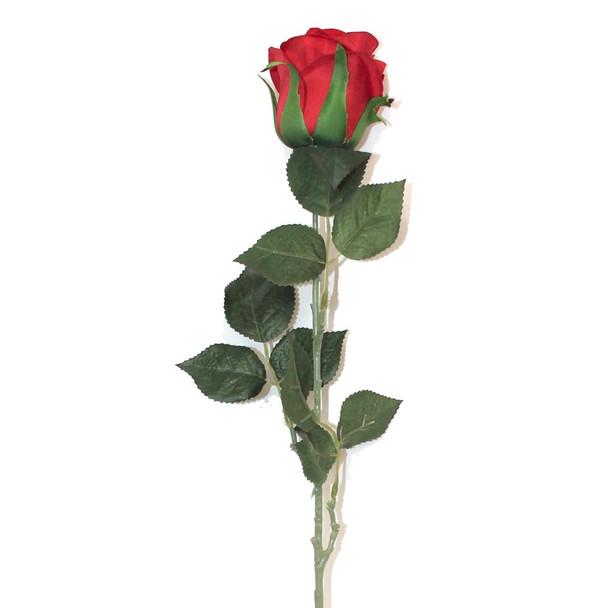 """28"""" Red Velvet Long Stem Single Rose Flower"""