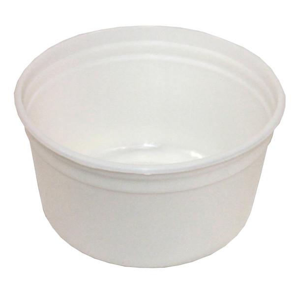 """6"""" White Plastic Hard Liner"""