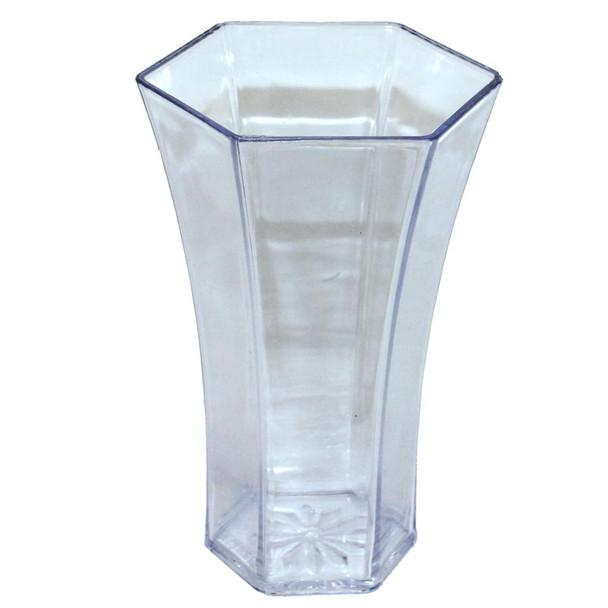 "8.25""H Clear Acrylic Rose Vase"