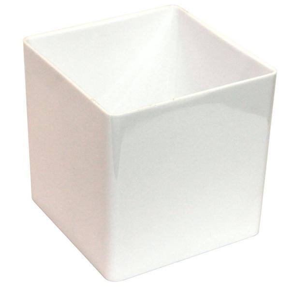 """7""""  White Acrylic Square Vase"""