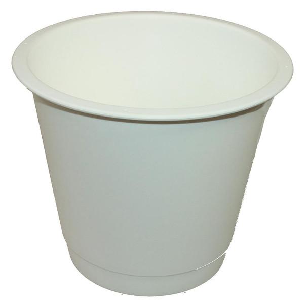 "9"" Medium White Plastic Bucket"