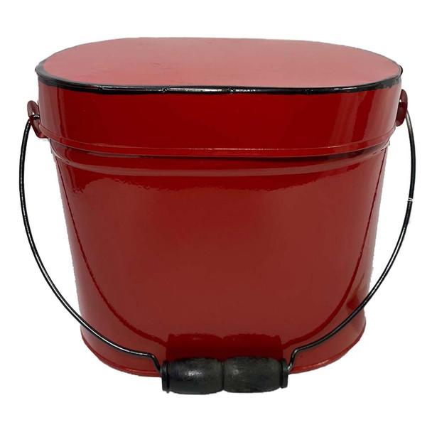 """6.75""""H Red Enamel Metal Box"""