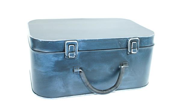 """12"""" Black Antique Rectangular Suitcase Box"""