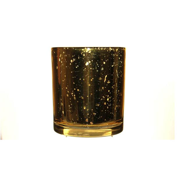 "3.55""H Antique Gold Candle Holder"