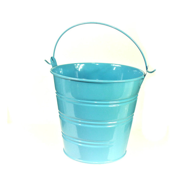 "4"" Light Blue Metal Bucket"