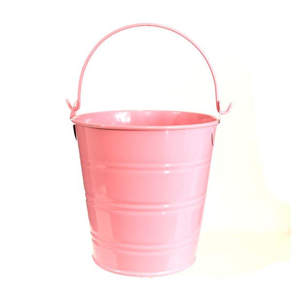 4'' Pink Metal Bucket