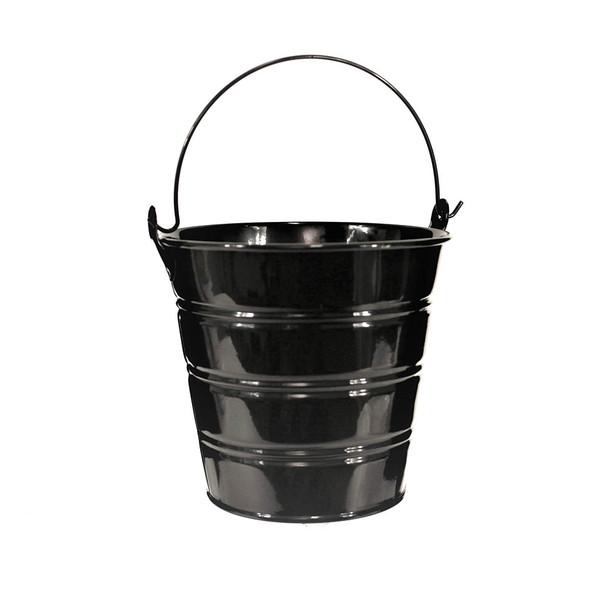 5'' Black Metal Bucket