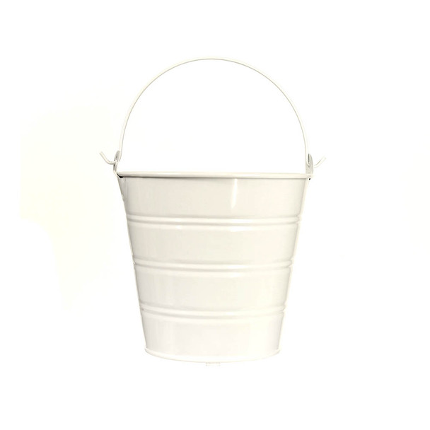 5'' White Metal Bucket