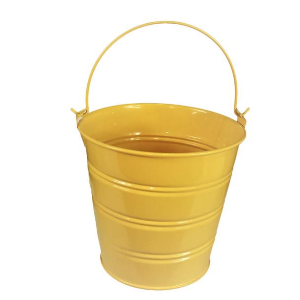 5'' Yellow Metal Bucket