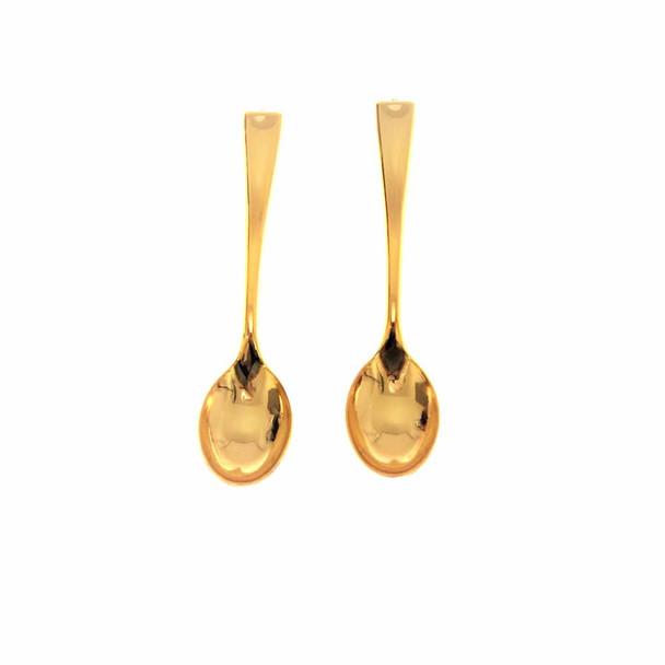 4'' Gold Mini Plastic Spoon