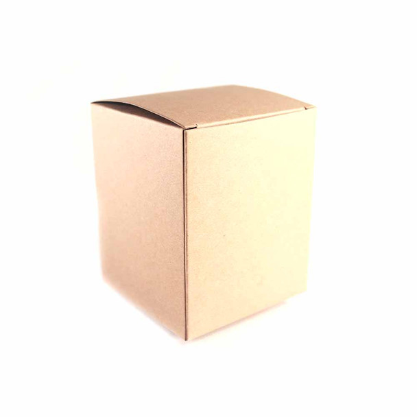 """2.5"""" Natural Paper Gift Boxes 12 pieces"""