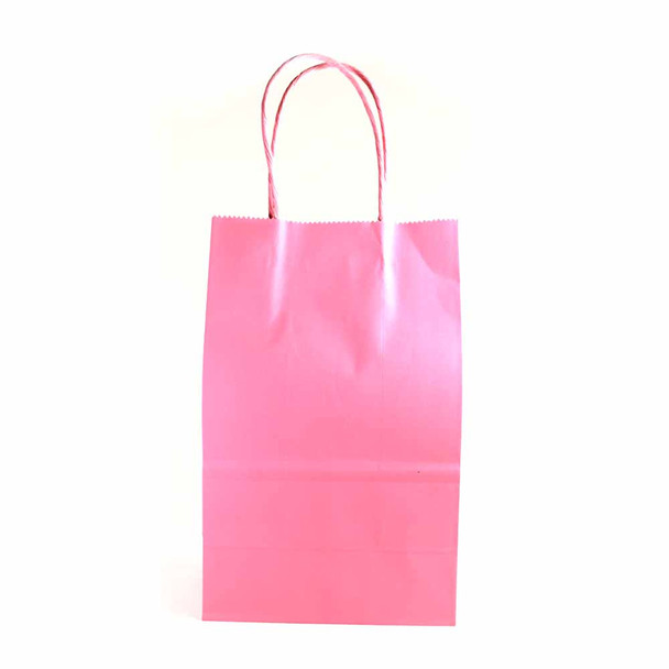 8''H Pink Paper Gifts Bag 12 pieces