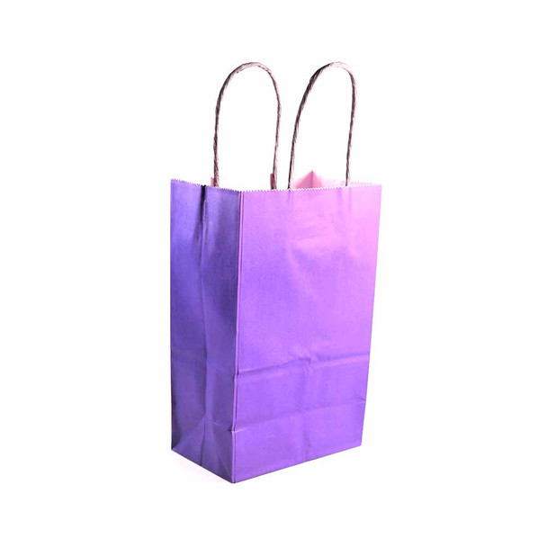 8''H Purple Paper Gift Bags 12 pieces