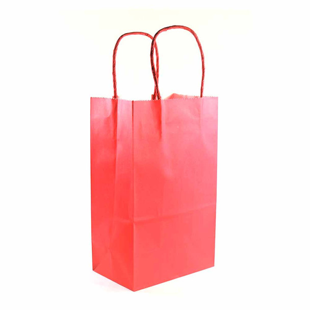 8''H Red Paper Gift Bags 12 pieces