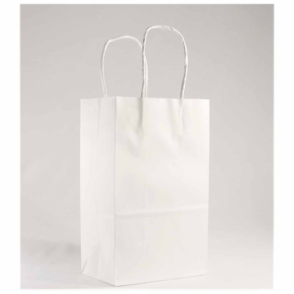 8''H White Paper Gift Bags 12 pieces