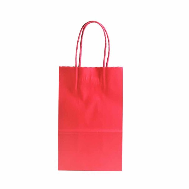 8''H Fuchsia Paper Gift Bags 12 pieces