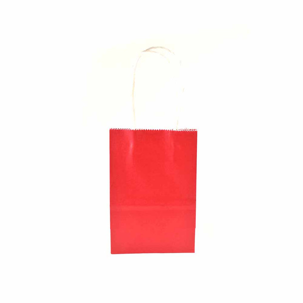 6''H Red Small Paper Gift Bags 12 pieces