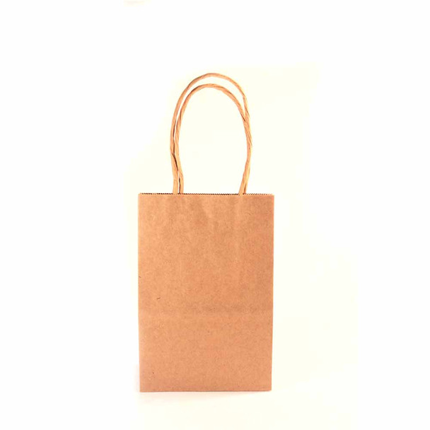 6''H Natural Small Paper Gift Bags 12 pieces