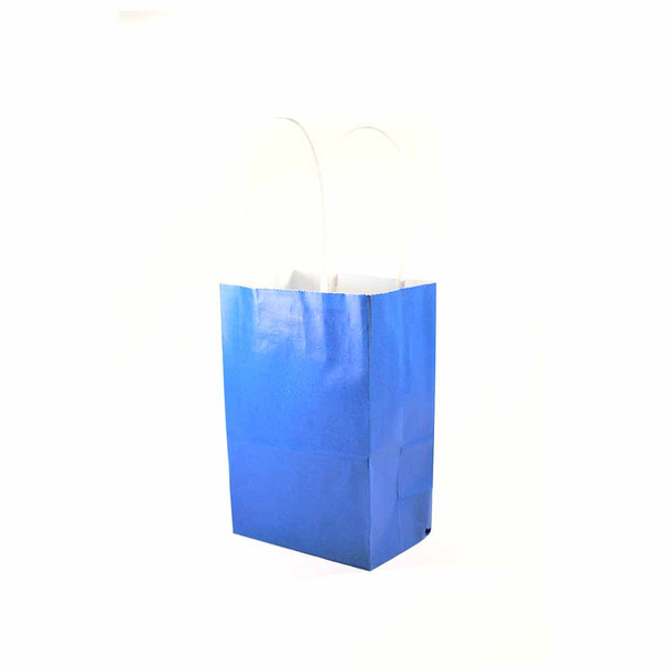 6''H Blue Small Paper Gift Bags 12 pieces