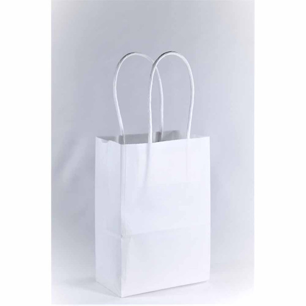 6''H White Small Paper Gift Bags 12 pieces