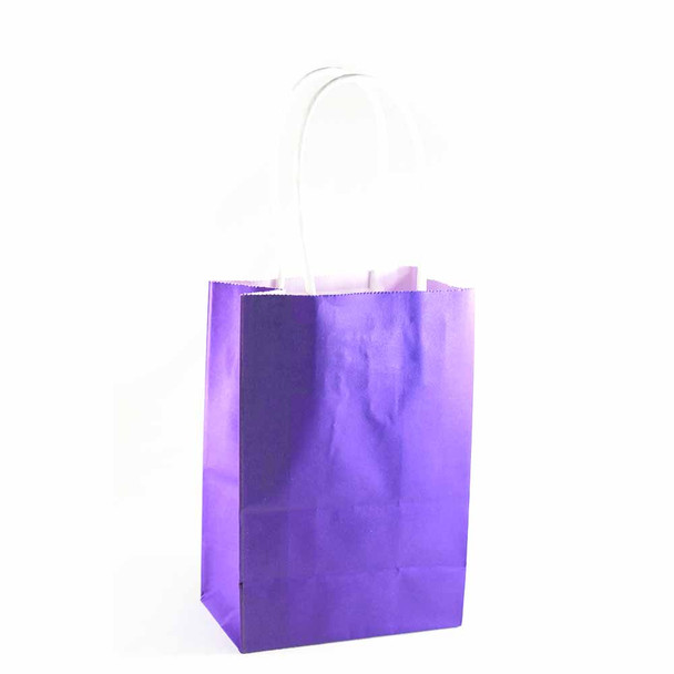 6''H Purple Small Paper Gift Bags 12 pieces