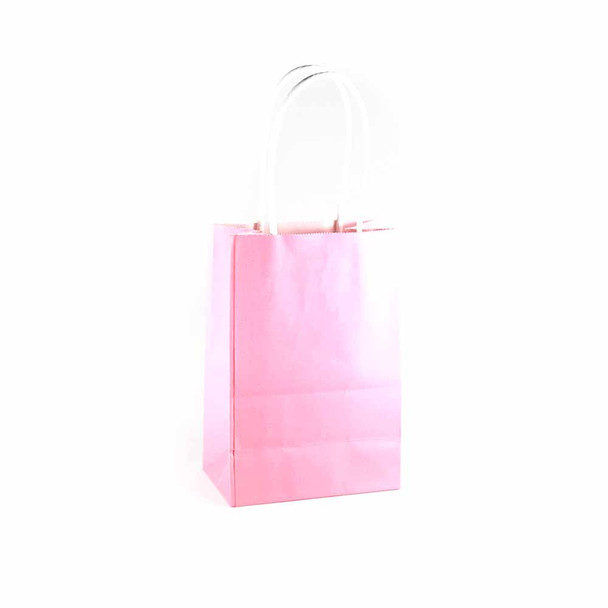 6''H Pink Small Paper Gift Bags 12 pieces
