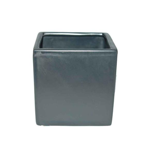 4'' Black Ceramic Cube