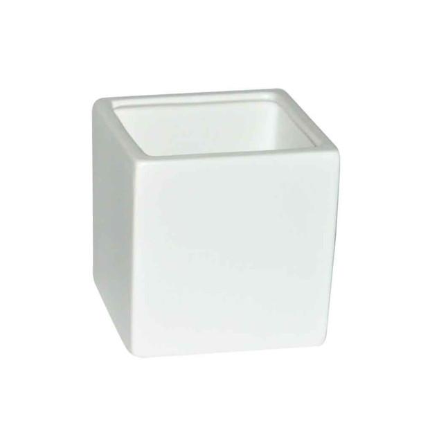 4'' White Ceramic Cube