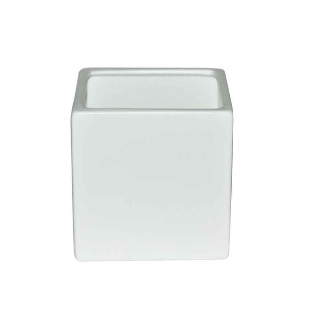 5'' White Ceramic Cube
