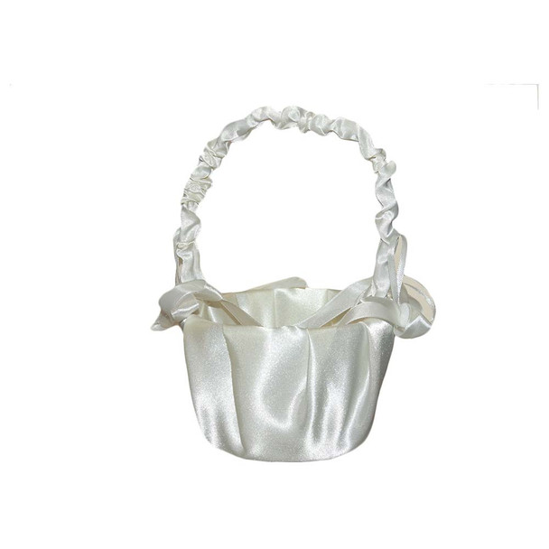 5'' Ivory Flower Girl Basket