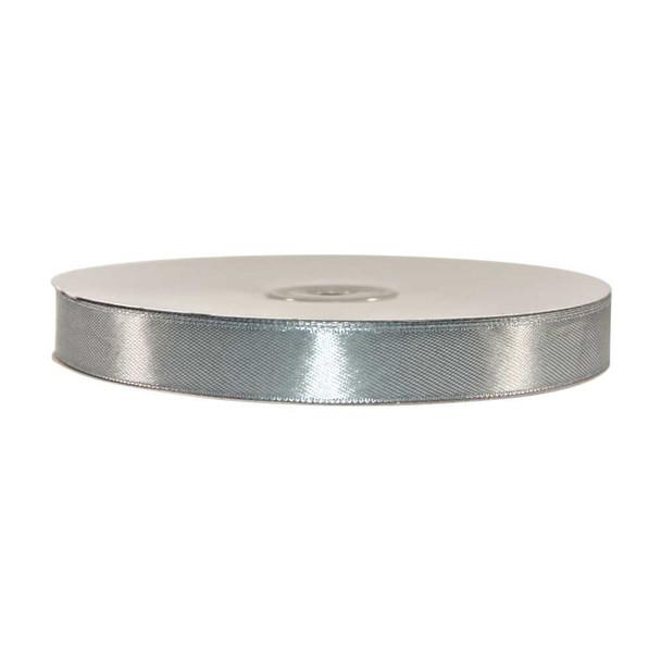 5/8'' Silver Single Face Satin Ribbon