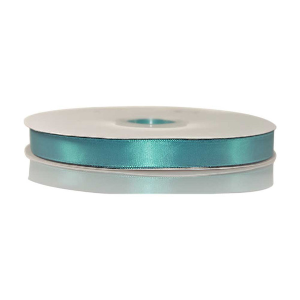5/8'' Tornado Blue Single Face Satin Ribbon