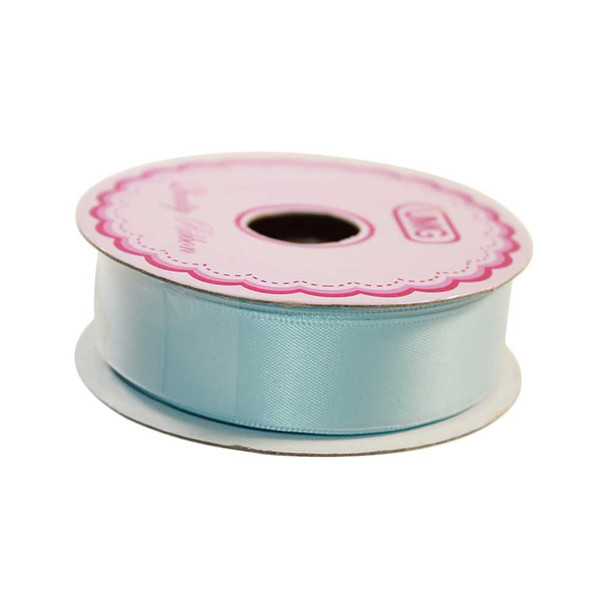 3/4'' Light Blue Single Face Satin Ribbon