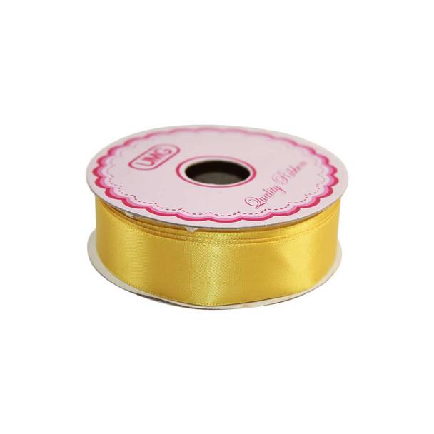 3/4'' Yellow Single Face Satin Ribbon