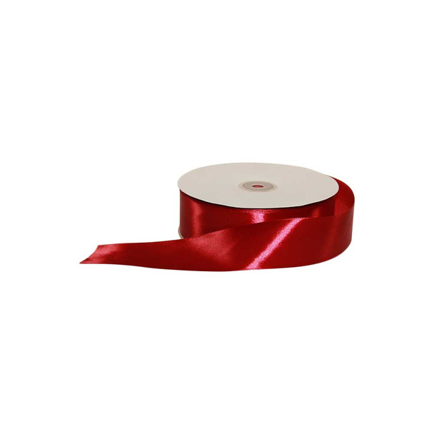 1.5'' Burgundy Single Face Satin Ribbon