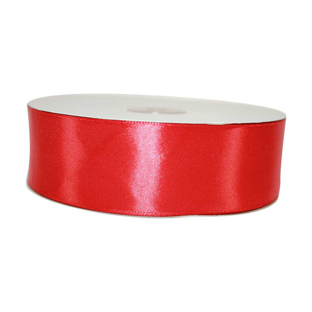 1.5'' Red Single Face Satin Ribbon