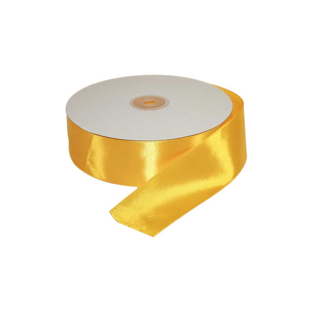 1.5'' Yellow Single Face Satin Ribbon