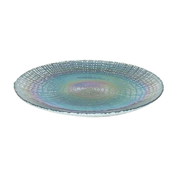 """13"""" Iridescent Glass Charger Plate"""