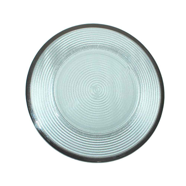 "13"" Glass Charger Plate  With Silver Rim"