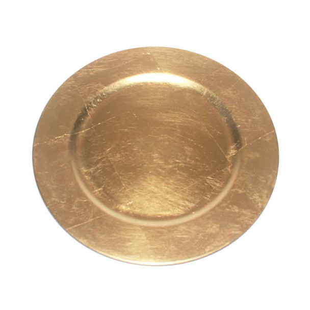 "13"" Gold Charger Plate"