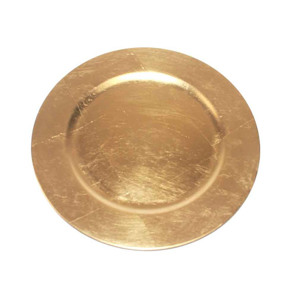 """13"""" Gold Charger Plate"""