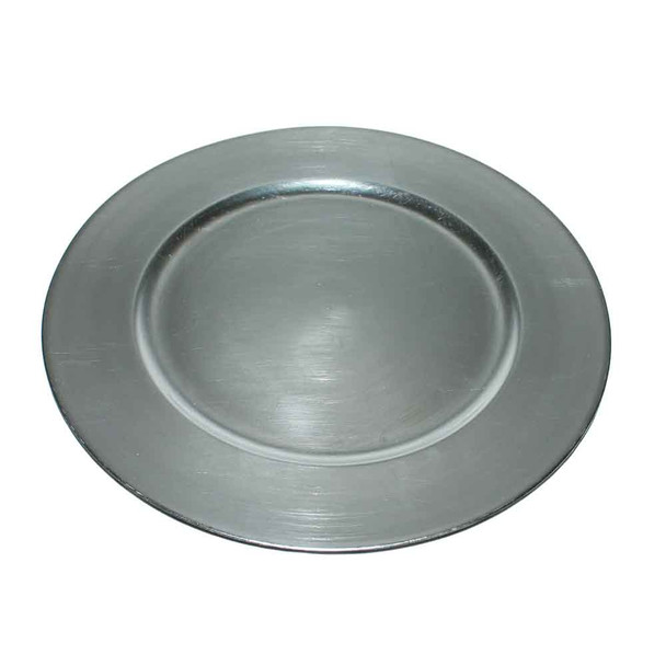 """13"""" Silver Charger Plate"""