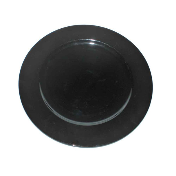 """13"""" Black Charger Plate"""